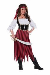 PIRATES -  PIRATE COSTUME (TEEN - ONE SIZE FITS UP TO SIZE 9)