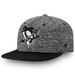 PITTSBURGH PENGUINS -  ADJUSTABLE CAP - GREY/BLACK