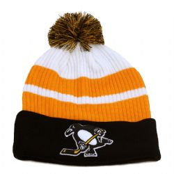 PITTSBURGH PENGUINS -  BEANIE WITH POMPOM -  REVERSE RETRO