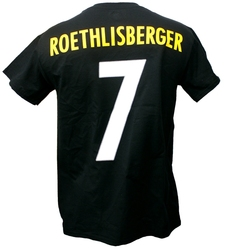 PITTSBURGH STEELERS -  BEN ROETHLISBERGER #7 T-SHIRT - BLACK