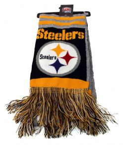PITTSBURGH STEELERS -  GREY SCARF