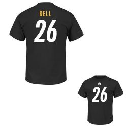 PITTSBURGH STEELERS -  LE'VEON BELL #26 T-SHIRT - BLACK