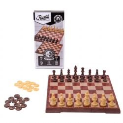 PLASTIC CHESS & CHECKERS 2 IN 1 (MAGNETIC TRAVEL BOARD GAME)