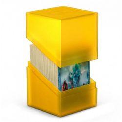 PLASTIC DECK BOX -  BOULDER DECK CASE - AMBER - STANDARD (100)