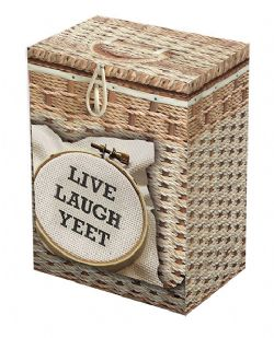 PLASTIC DECK BOX -  LEGION - TOP LOAD - 100 - LIVE LAUGH YEET (WITH DIVIDER)
