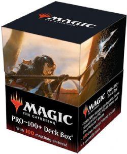 PLASTIC DECK BOX -  MTG - 100+ WITH 100 SLEEVES - COMMANDER LEGENDS - LIESA