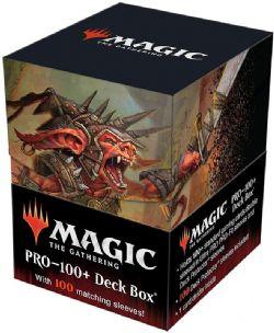 PLASTIC DECK BOX -  MTG - 100+ WITH 100 SLEEVES - COMMANDER LEGENDS - ROGRAKH