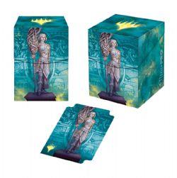 PLASTIC DECK BOX -  MTG THEROS BEYOND DEATH - ELSPETH ALTERNATE ART - TOP LOAD (100)