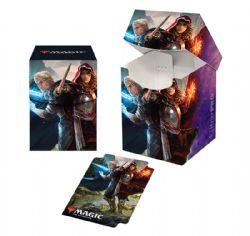 PLASTIC DECK BOX -  MTG THRONE OF ELDRAINE - THE ROYAL SCIONS - TOP LOAD (100)