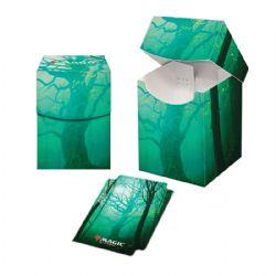 PLASTIC DECK BOX -  MTG UNSTABLE LANDS - FOREST (100)