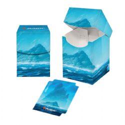 PLASTIC DECK BOX -  MTG UNSTABLE LANDS - ISLAND (100)