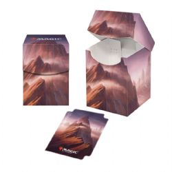 PLASTIC DECK BOX -  MTG UNSTABLE LANDS - MOUNTAIN (100)