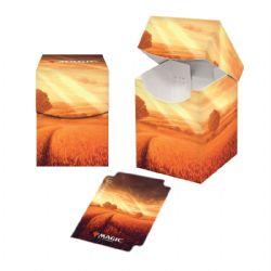 PLASTIC DECK BOX -  MTG UNSTABLE LANDS - PLAINS (100)