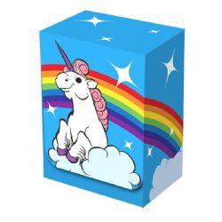 PLASTIC DECK BOX -  RAINBOW UNICORN (100)