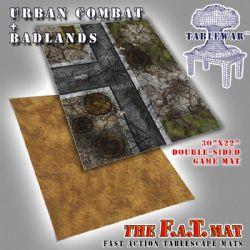 PLAY MAT -  FAT MATS - URBAN COMBAT + BADLANDS (30