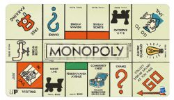 PLAY MAT -  MONOPOLY GAME BOARD - PLAYMAT (24