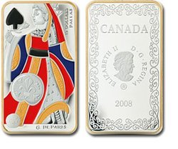 PLAYING CARD MONEY -  QUEEN OF SPADES -  2008 CANADIAN COINS 02