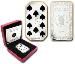 PLAYING CARD MONEY -  TEN OF SPADES -  2009 CANADIAN COINS 03