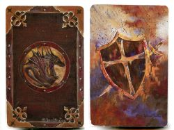 PLAYING CARDS -  DRAGON/SHIELD (RICHARD BOUTIN)