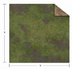 PLAYMAT -  BROKEN GRASSLAND/DESERT SCRUBLAND (3'X3') -  MONSTER SCENERY