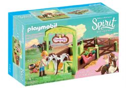 PLAYMOBIL -  ABIGAIL & BOOMERANG WITH HORSE STALL (56 PIECES) 9480
