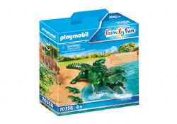 PLAYMOBIL -  ALLIGATOR WITH BABIES (3 PIECES) 70358