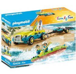 PLAYMOBIL -  BEACH CAR WITH CANOE (88 PIECES) 70436