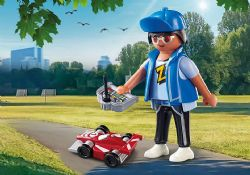 PLAYMOBIL -  BOY WITH RC CAR (4 PIECES) 70561