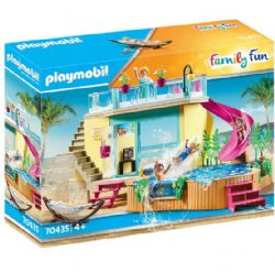 PLAYMOBIL -  BUNGALOW WITH POOL (156 PIECES) 70435