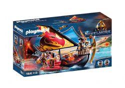 PLAYMOBIL -  BURNHAM RAIDERS FIRE SHIP (55 PIECES) 70641