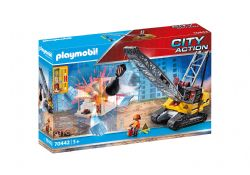 PLAYMOBIL -  CABLE EXCAVATOR WITH BUILDING SECTION  70442
