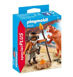 PLAYMOBIL -  CAVEMAN WITH SABERTOOTH TIGER 9442
