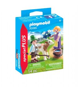 PLAYMOBIL -  CHILDREN WITH CALF (14 PIECES) 70155