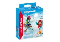 PLAYMOBIL -  CHILDREN WITH SLEIGH (13 PIECES) 70250