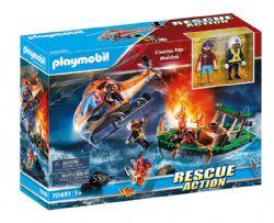 PLAYMOBIL -  COASTAL FIRE MISSION (55 PIECES) 70491