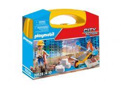 PLAYMOBIL -  CONSTRUCTION SITE CARRY CASE (42 PIECES) 70528