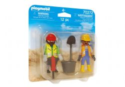 PLAYMOBIL -  CONSTRUCTION WORKERS (12 PIECES) 70272