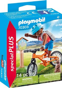 PLAYMOBIL -  CYCLIST WITH GROUNDHOG (14 PIECES) 70303
