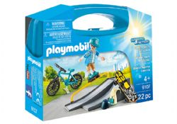 PLAYMOBIL -  EXTREME SPORTS CARRY CASE (22 PIECES) 9107