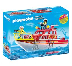 PLAYMOBIL -  FIRE RESCUE BOAT (70 PIECES) 70147