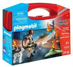PLAYMOBIL -  FIRE RESCUE CARRY CASE (24 PIECES) 70310