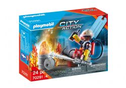 PLAYMOBIL -  FIRE RESCUE GIFT SET (24 PIECES) 70291