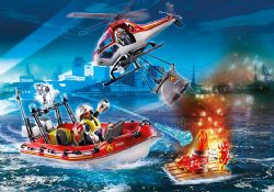 PLAYMOBIL -  FIRE RESCUE MISSION (100 PIECES) 70335