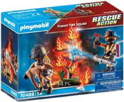 PLAYMOBIL -  FOREST FIRE SQUAD (34 PIECES) 70488