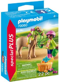 PLAYMOBIL -  GIRL WITH PONY (22 PIECES) 70060