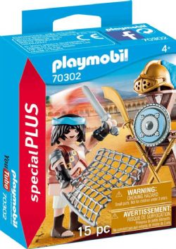 PLAYMOBIL -  GLADIATOR WITH WEAPONS (15 PIECES) 70302