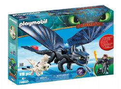 PLAYMOBIL -  HICCUP AND TOOTHLESS WITH BABY DRAGON (19 PIECES) 70037