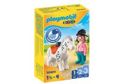 PLAYMOBIL -  HORSE AND HORSE RIDER 70404