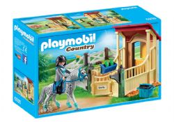 PLAYMOBIL -  HORSE STABLE WITH APPALOOSA 6935