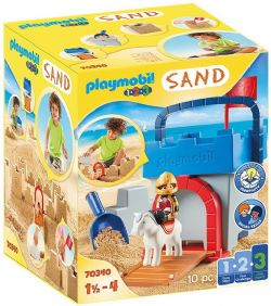 PLAYMOBIL -  KNIGHT'S CASTLE SAND BUCKET (10 PIECES) 70340